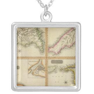 Grenada, Tobago, Trinidad, Curacao Square Pendant Necklace