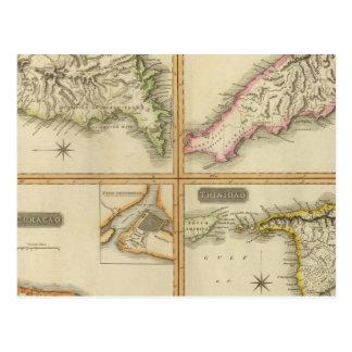 Grenada, Trinidad y Tobago, Trinidad, Curaçao Tarjetas Postales