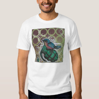 grenade and bird tee shirts
