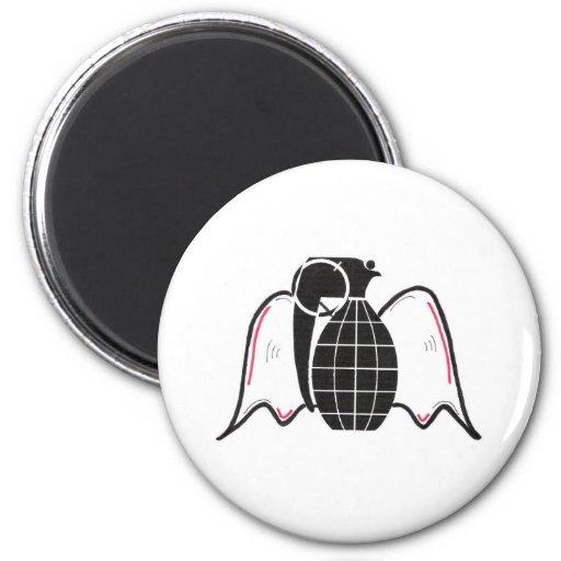 """""""Grenade Angel"""" 2 Inch Round Magnet"""