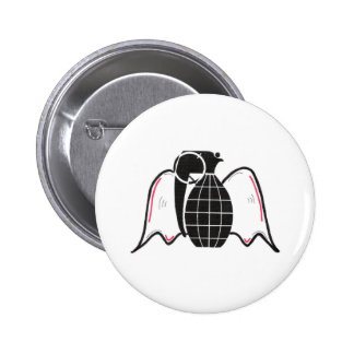 """Grenade Angel"" Pinback Button"