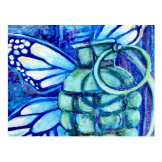 Grenade Butterfly, Fine Art Postcard
