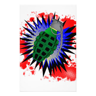 Grenade Comic Exclamation Stationery