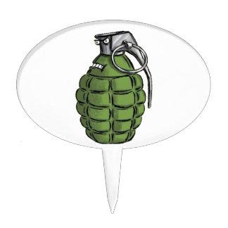 Grenade Expression Cake Topper