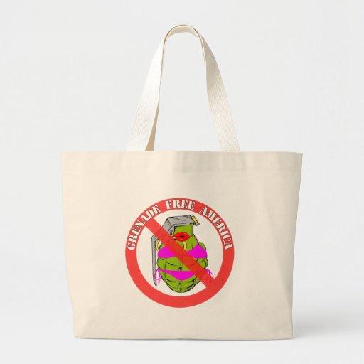 Grenade Free America Tote Bags