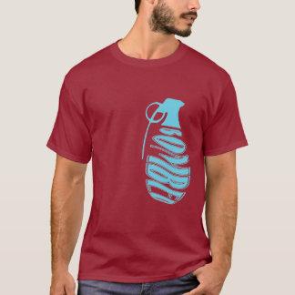 Grenade Maroon/Light Blue T-Shirt
