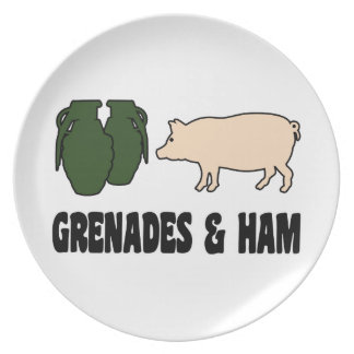 Grenades and Ham Dinner Plate