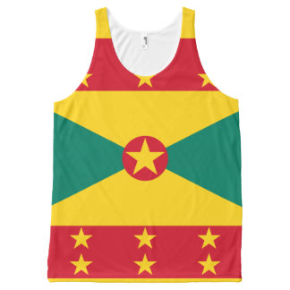 Grenadian flag All-Over-Print tank top