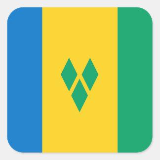 Grenadian Flag Square Stickers