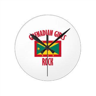 Grenadian girls DESIGNS Round Clock