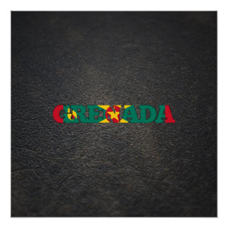 Grenadian name and flag poster
