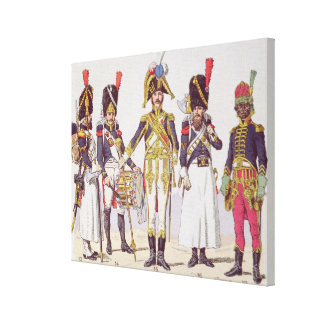 Grenadier Guards of the First Empire Stretched Canvas Print