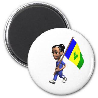 Grenadine Girl 2 Inch Round Magnet