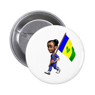 Grenadine Girl Pinback Button