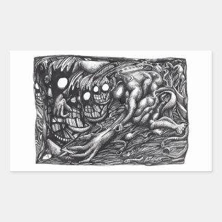 Grendel Mother Dream by Brian Benson Rectangular Sticker