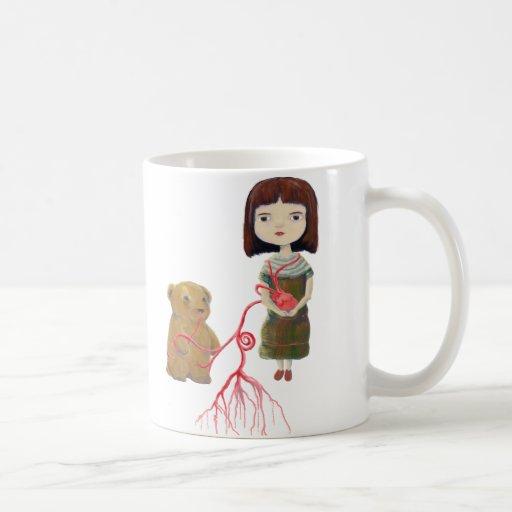Grendelgirl and Bear with Heartvines Coffee Mug