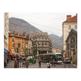 Grenoble street postcard