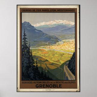 Grenoble Vintage Travel Poster Ad Retro Prints