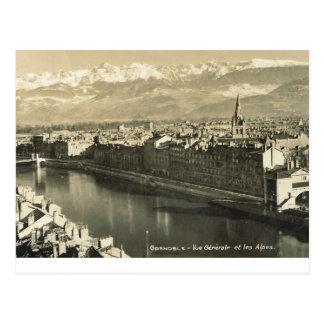 Grenoble vue generale des alpes post cards