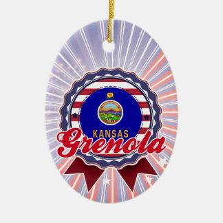 Grenola, KS Adorno Navideño Ovalado De Cerámica