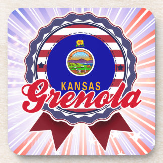 Grenola, KS Beverage Coasters