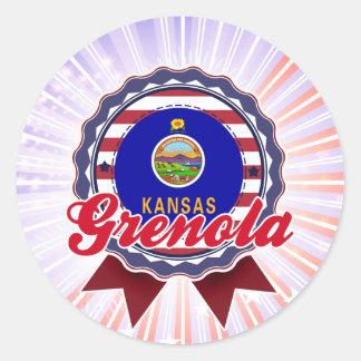 Grenola, KS Round Sticker