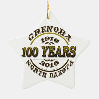 Grenora Centennial Memorabilia Ceramic Ornament