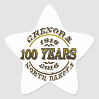 Grenora Centennial Memorabilia Star Sticker