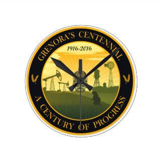 Grenora Centennial Official Logo Clock