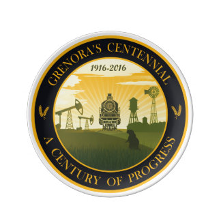 Grenora Centennial Official Logo Collectors Plate