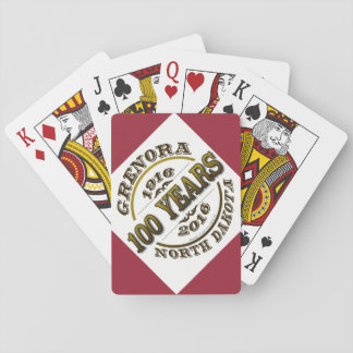 Grenora Centennial Playing Cards