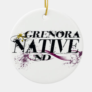 Grenora native drinkware .jpg ceramic ornament