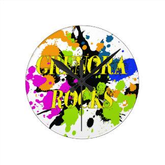 Grenora Rocks Items Round Clock