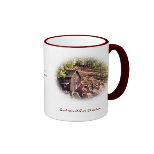 Gresham Mill in October Ringer Coffee Mug
