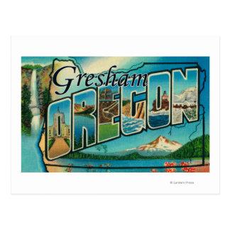 Gresham, Oregon - escenas grandes de la letra Tarjetas Postales