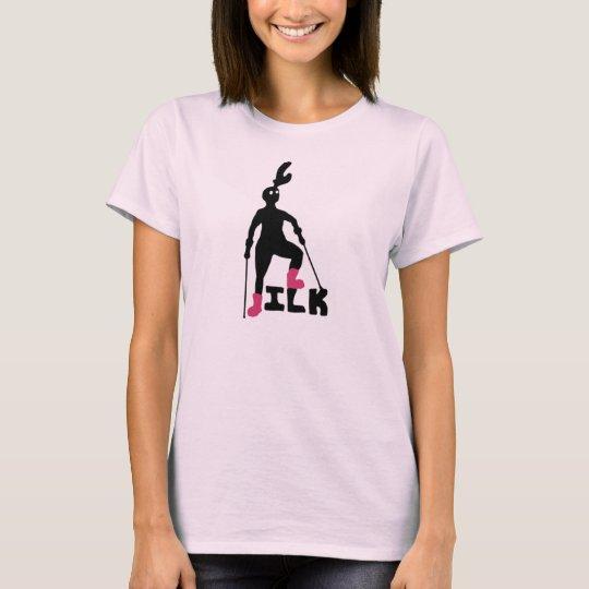 Greta and Jen's Ilk Shirt, body with crutches T-Shirt