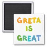 Greta es arte feliz de los grandes regalos conocid imán de frigorifico