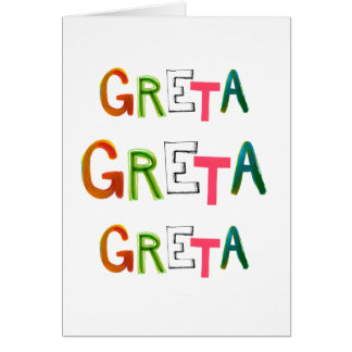 Greta fun colorful word art gifts for Greta-lovers Card