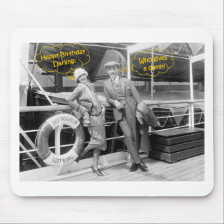 Greta Garbo and Mauritz Stiller 1925 Birthday Mouse Pad
