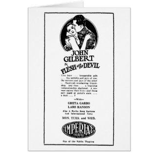 Greta Garbo John Gilbert Card