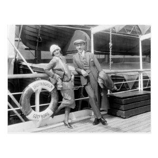 Greta Garbo y Mauritz un 1925 más inmóvil Tarjeta Postal