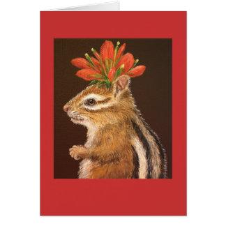 Greta la tarjeta del chipmunk