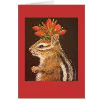 Greta the chipmunk card