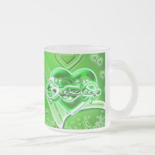 Gretchen Frosted Glass Coffee Mug