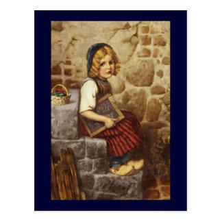 Gretel con Schoolwork Postal