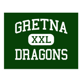 Gretna - Dragons - High School - Gretna Nebraska Postcard