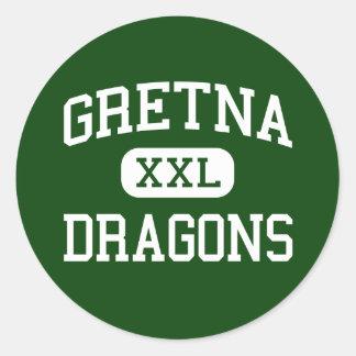 Gretna - Dragons - High School - Gretna Nebraska Round Stickers