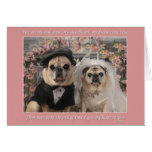 Gretta and Oliver get married Greeting Card