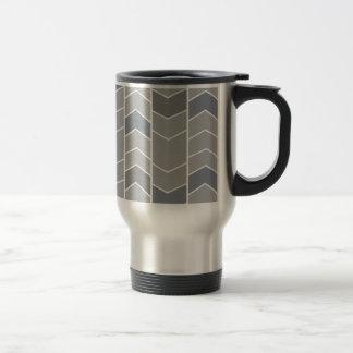 Greu Chevron Stripes Pattern Coffee Mug