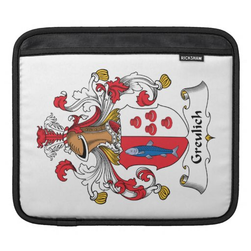 Greulich Family Crest iPad Sleeve